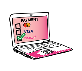 Lista de métodos de pago con Neosurf