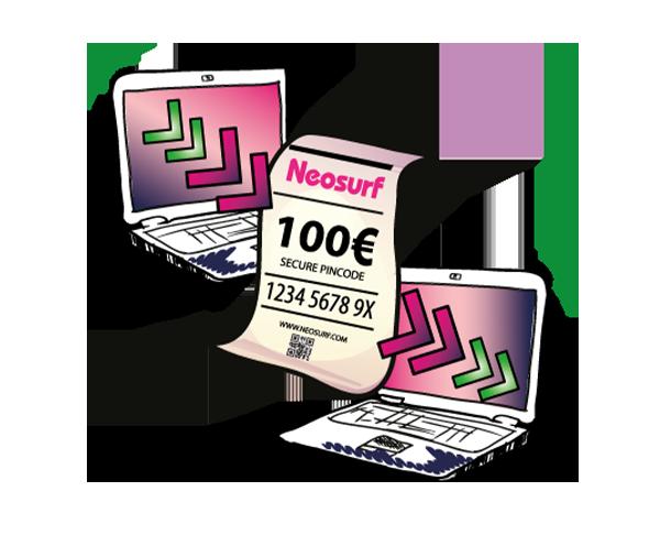 E-shopping avec Neosurf